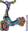 Vector Clip Art image  of a kids scooter