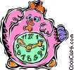 kids clock Vector Clipart picture