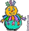 blow up clown Vector Clipart illustration