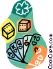 gambling, dice and cards Vector Clipart picture