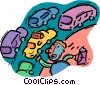 person hailing cab Vector Clipart picture
