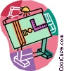 drafting table Vector Clipart illustration