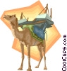 camel, desert Vector Clipart illustration