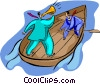 row boat Vector Clipart illustration