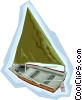 Vector Clip Art picture  of a sail boat