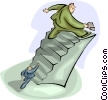 Vector Clip Art image  of a stairs