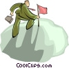 businessman golfing Vector Clipart graphic