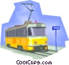Vector Clipart picture  of a Streetcar