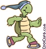 turtle on skates Vector Clip Art graphic