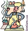 Vector Clip Art image  of a chef