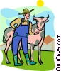 Vector Clipart image  of a farmer