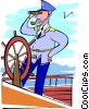 Vector Clipart graphic  of a captain