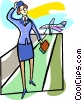 Vector Clip Art image  of an airport