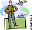 pilot, aircraft, planes Vector Clip Art picture