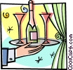 Vector Clipart image  of a wine