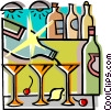 drinking, bar, drinks Vector Clipart image