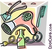Vector Clip Art image  of a bathroom motif