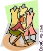 Vector Clip Art image  of a fashion
