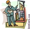 Vector Clipart picture  of a foreman