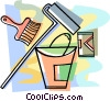 paint, paint brushes Vector Clipart illustration