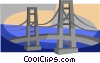 bridge, golden gate bridge Vector Clip Art graphic