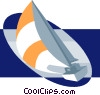 Sail boat, sailing, boat Vector Clip Art graphic