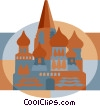 mosque, Russia Vector Clip Art graphic
