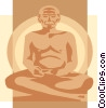 Buddha, Asia Vector Clipart image