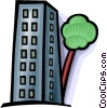 urban growth crowding out nature Vector Clip Art picture