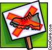 do not walk sign, sign Vector Clipart image