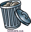 Vector Clipart picture  of a garbage
