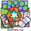 Vector Clipart graphic  of a Recycle paper concept