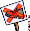 no walking sign, sign Vector Clip Art image