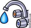 faucet, water tap Vector Clip Art graphic