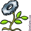 Vector Clip Art image  of a plant