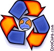 Vector Clipart illustration  of a recycle