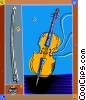 violin, music, musical instruments Vector Clipart graphic