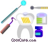 tooth, dentist equipment Vector Clipart image