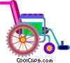 Vector Clip Art image  of a wheel chair