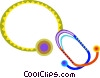 Vector Clipart illustration  of a stethoscope