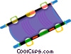 stretcher Vector Clipart illustration