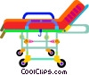 Vector Clip Art graphic  of a hospital bed