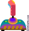 video joy stick Vector Clipart graphic