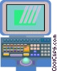 lap top computer Vector Clipart image