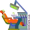 Vector Clipart image  of a Dentist chair