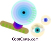 contact lenses Vector Clipart picture