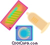 contraceptives, condoms Vector Clipart illustration