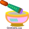 Vector Clipart illustration  of a medicine bowl