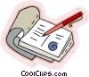 calendar, pen Vector Clipart picture