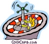 Vector Clipart picture  of a gambling